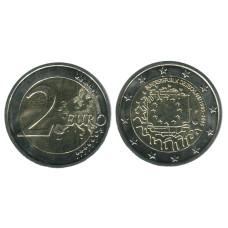 2 евро Германии 2015 г., 30 лет флагу Евросоюза (F)