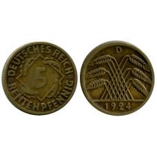 5 рентенпфеннигов Германии 1924 г. (D)