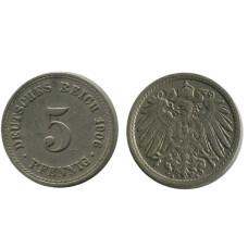 5 пфеннигов Германии 1906 г. (A)