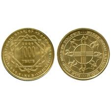 1000 тенге Казахстана 2009 г., Шёлковый путь (золото)