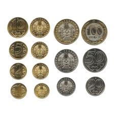 Набор из 7-ми разменных монет Казахстана