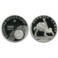 100 тенге Казахстана 2012 г., Олимпийские игры, борьба (серебро)