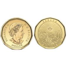 1 доллар Канады 2021 г. 125 лет Золотой лихорадке в Клондайке