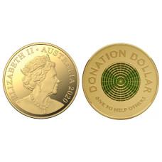 1 доллар Австралии 2020 г. Доллар для пожертвования