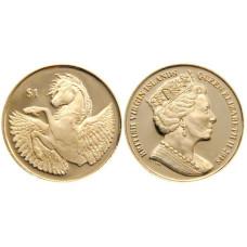 1 доллар Британские Виргинские острова  2018 г. Пегас