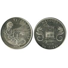 1 франк Майотты 2015 г. динозавр Тираннозавр