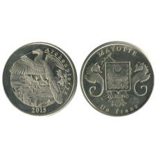 1 франк Майотты 2015 г. динозавр Археоптерикс