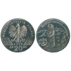 20 злотых Польши 2006 г. Всемирная природа - Сурок