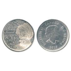 25 центов Канады 2013 г. Лора Секорд