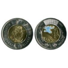 2 доллара Канады 2021 г. Открытие инсулина ЦВЕТНАЯ