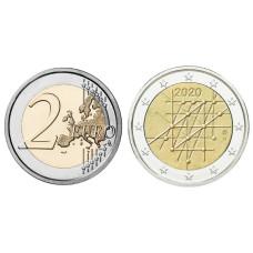 2 Евро Финляндии 2020 г. 100 лет Университету Турку