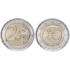 2 Евро Нидерландов 2009 Г., 10 Лет Экономическому и Валютному Союзу