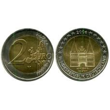 2 евро Германии 2006 г., Голштинские ворота в Любеке, Шлезвиг-Гольштейн (D)