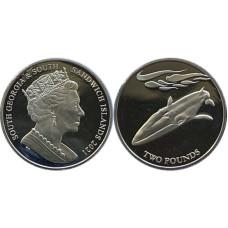 2 фунта Южная Георгия и Южные Сандвичевы острова 2021 г. Финвал (сельдяной кит)