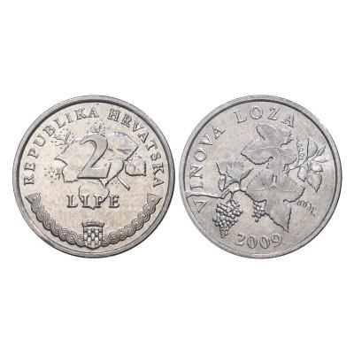 Монета 2 липы Хорватии 2009 г.