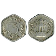 3 пайса Индии 1966 г.