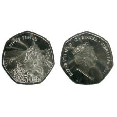 50 пенсов Гибралтара 2020 г. Смотровая площадка