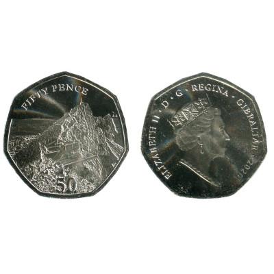 Монета 50 пенсов Гибралтара 2020 г. Смотровая площадка