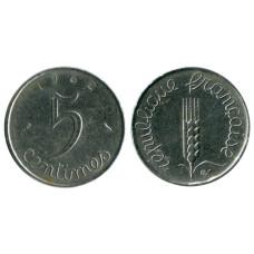 5 сантимов Франции 1962 г.