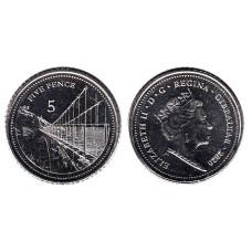 5 пенсов Гибралтара 2020 г. Мост