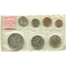Набор из 7-ми монет Новой Зеландии 1967 г.