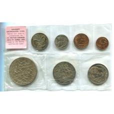Набор из 7-ми монет Новой Зеландии 1974 г. Британские игры содружества