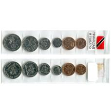 Набор монет регулярного чекана Тринидад и Тобаго с 1995 по 2014 гг.