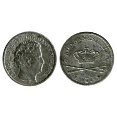 3 ригсбанкскиллинга Дании 1842 г.