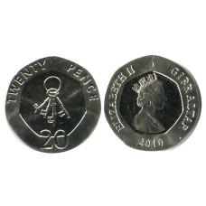 20 пенсов Гибралтара 2010 г.