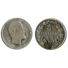 4 скиллинг-ригсмёнта Дании 1854 г.