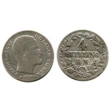 4 скиллинг-ригсмёнта Дании 1856 г.