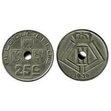 25 сантимов Бельгии 1939 г. BELGIQUE