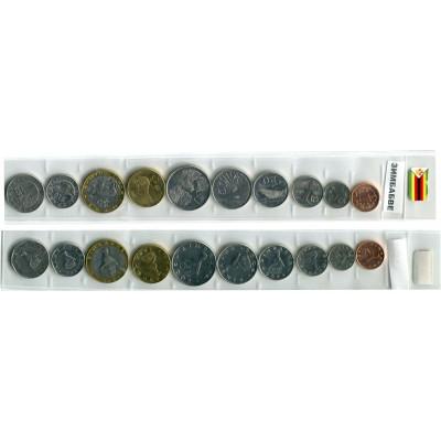 Монета Набор монет Зимбабве регулярного чекана 1997 – 2003 г.
