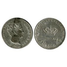 4 ригсбанкскиллинга Дании 1842 г.