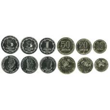 Набор из 6-ти монет Таджикистана 2020 г.
