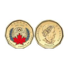 1 доллар Канады 2020 г. 75 лет ООН цветная