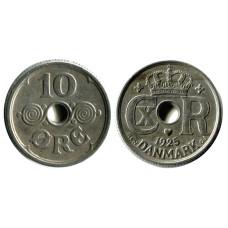 10 эре Дании 1925 г.