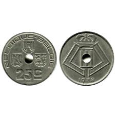 25 сантимов Бельгии 1938 г. BELGIQUE