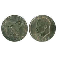 1 доллар США 1972 г. Доллар Эйзенхауэра 1