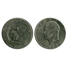 1 доллар США 1972 г. Доллар Эйзенхауэра (D) 2