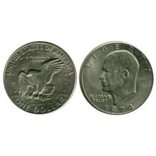 1 доллар США 1974 г. Доллар Эйзенхауэра