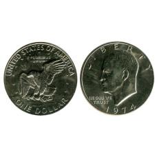 1 доллар США 1974 г. Доллар Эйзенхауэра 1