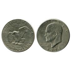 1 доллар США 1974 г. Доллар Эйзенхауэра (D) 1