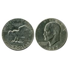 1 доллар США 1977 г. Доллар Эйзенхауэра (D) 1