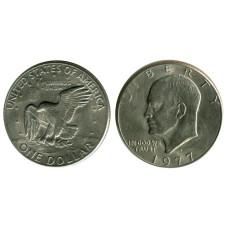 1 доллар США 1977 г. Доллар Эйзенхауэра (D)