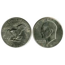 1 доллар США 1977 г. Доллар Эйзенхауэра (D) 2