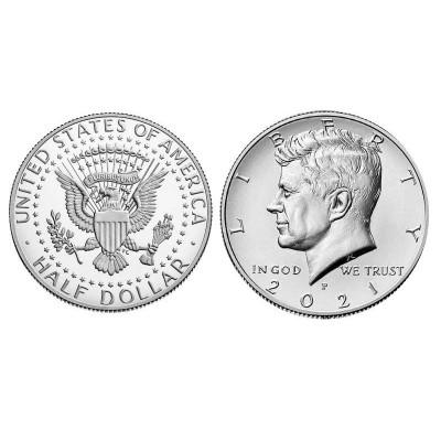 Монета 1/2 доллара США 2021 г. Кеннеди (P)