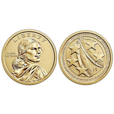 Монета 1 доллар США 2021 г. Коренные американцы D
