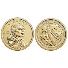 1 доллар США 2021 г. Коренные американцы в Вооруженных Силах P