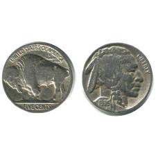5 центов США 1935 г. Индеец (Buffalo Nickel) (P)